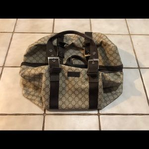Large Authentic Gucci Duffle Bag